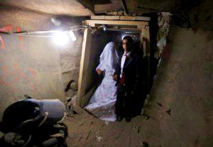 Bride_Gaza_tunnel_Reuters-300x207
