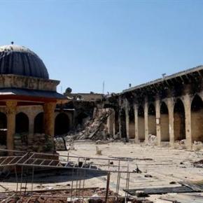 """Συρία: """"έπεσε"""" το στρατηγείο των τρομοκρατών στο Χαλέπι. Σε ιστορικό τέμενος έκρυβαν τα όπλα από τοΚατάρ!"""