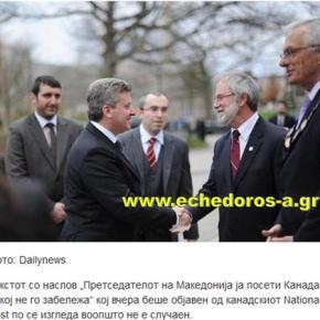 Σκόπια: «Το ελληνικό λόμπι προσπάθησε να υπονομεύσει την επίσκεψη Ίβανοφ στονΚαναδά»