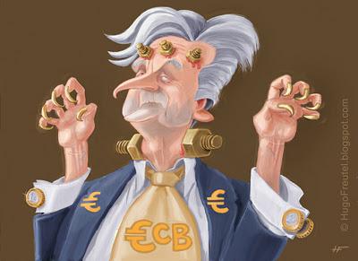 Jean+Claude+Trichet%2C+ECB%2C+EU+euro+cartoon+%C2%A9+Hugo+Freutel