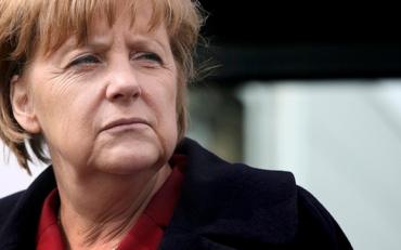 German Chancellor Angela Merkel visits the public transport company PVGS Personenverkehrsgesellschaft mbH in Salzwedel