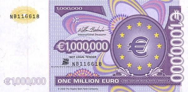 One+million+Euro+note+obverse