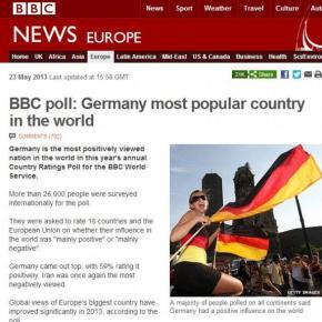 Δημοφιλέστερη χώρα του κόσμου ηΓερμανία