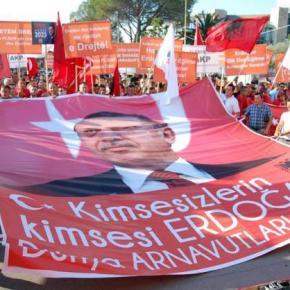 Αλβανία: Συλλαλητήριο υποστήριξηςΕρντογάν