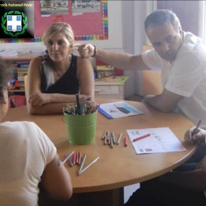 Επίσκεψη του Νίκου Λυγερού στο ειδικό σχολείο του Αγίου Σπυρίδωνα26/6/2013