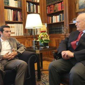 Παπούλιας: Περιορισμένες από το Σύνταγμα οι δυνατότητες παρέμβασης για ΕΡΤΣυνάντηση του Προέδρου της Δημοκρατίας με τον ΑλέξηΤσίπρα.