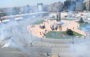 Police Attack Protesters In Taksim Square In Istanbul's Taksim Square