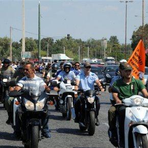 Νέα μηχανοκίνητη πορεία δημοτικών αστυνομικών στηνΑθήνα
