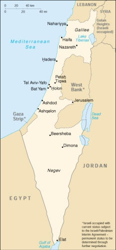 Israeli map