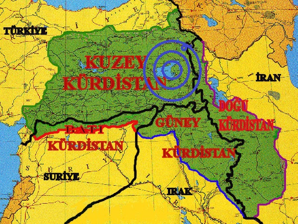 kurdistan haritasi 4 parca