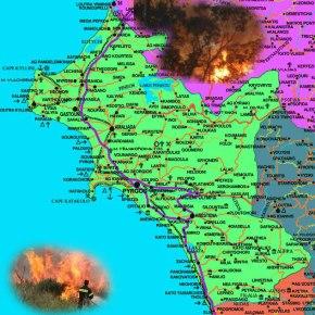 ΗΛΕΙΑ: Ανεξέλεγκτη ακόμα η μεγάλη πυρκαγιά στο Κλεινδιά (νεότερα Δευτέρα 12.40 μμ)(ΝΕΟ)