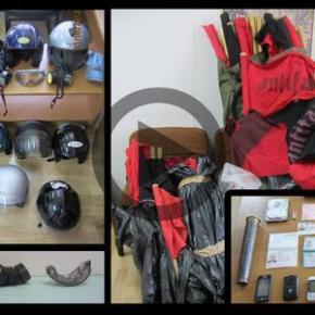 Κοντάρια, μάσκες και υλικά για μολότοφ στο ΕΜΠ – Εφοδος της ΕΛΑΣ και 6 προσαγωγές.ΕΠΙΧΕΙΡΗΣΗ ΤΑΞΗΜΕΡΩΜΑΤΑ