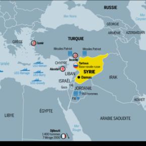 Ο χάρτης των δυνάμεων που είναι έτοιμες να πλήξουν τηΣυρία