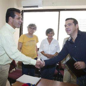 Συνάντηση Τσίπρα με το σωματείο της ΕΛΒΟ στηΘεσσαλονίκη