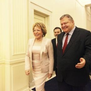 Δηλώσεις κατά τη συνάντησή του Αν. και ΥΠΕΞ Ευ. Βενιζέλου και της Πρ. του Ομοσ. Συμβουλίου Ρωσικής Ομοσπονδίας V.Matvienko