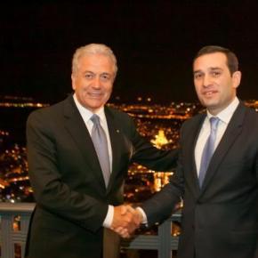 Αβραμόπουλος: Συνεργασία Ελλάδας – Γεωργίας στον Αμυντικότομέα