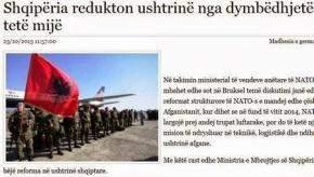 Η Αλβανία θα μειώσει το στρατό της από τις 12 χιλιάδες στις 8χιλιάδες