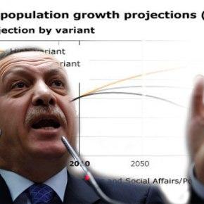 Ο πληθυσμός της Τουρκίας δε θα αγγίξει τα 100εκατομμύρια