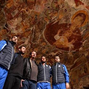 Στην Τραπεζούντα και στη Σουμελά Κύπριοι ποδοσφαιριστές –Φωτογραφίες