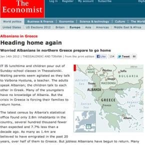 Economist: Οι Αλβανοί επιστρέφουν στην πατρίδατους