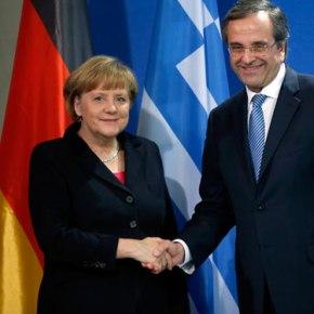 Ικανοποίηση της ελληνικής κυβέρνησης για τη συνάντηση Σαμαρά –Μέρκελ