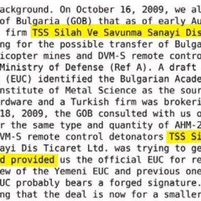 WikiLeaks: Σε μαύρη λίστα των ΗΠΑ η τουρκική εταιρεία πίσω από το«NOUR-M»