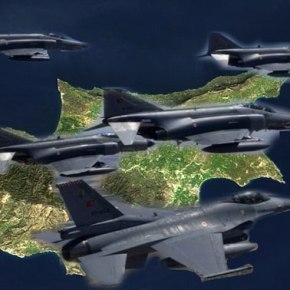 ΕΠΙΧΕΙΡΗΣΗ ΕΚΦΟΒΙΣΜΟΥ – Τουρκικά μαχητικά πάνω από την ελεύθερη Κύπρο – Πέταξαν και πάνω από τηΛευκωσία