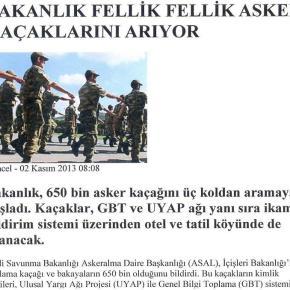 Τουρκία: Ανθρωποκυνηγητό για 650.000ανυπότακτους