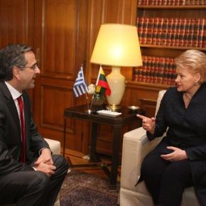 Συνάντηση του πρωθυπουργού με την πρόεδρο τηςΛιθουανίας