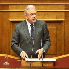 Αβραμόπουλος: «Μειωμένος κατά 52% ο προϋπολογισμός του υπουργείου Αμυνας σε σχέση με το2009»