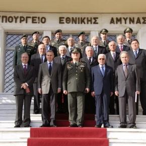 Επίσκεψη Διατελεσάντων Αρχηγών ΓΕΣ και ΓΕΕΘΑ στο Γενικό ΕπιτελείοΣτρατού
