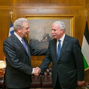 Ο Αβραμόπουλος με τον ΥΠΕΞ της ΠαλαιστινιακήςΑρχής