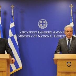 Δηλώσεις ΥΕΘΑ Δημήτρη Αβραμόπουλου και ΥΠΕΞ Ισραήλ Avigdor Liberman μετά τη συνάντηση τους στοΥΠΕΘΑ