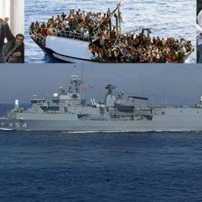 Φρεγάτα του ΠΝ στην επιχείρηση διάσωσης 400 λάθρο βορειοδυτικά τηςΚρήτης