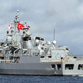 Τουρκική φρεγάτα στα νερά μας & E /Π με την Τουρκάλα πιλότο (;) να πετάει προς την Αμοργό!
