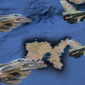 Στο κόκκινο πια η αντιπαράθεση…14 Τούρκικα μαχητικά σε όλο τοΑιγαίο!