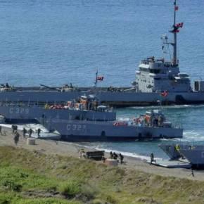 ΕΚΤΑΚΤΟ: Μεγάλη συγκέντρωση ναυτικών-αποβατικών δυνάμεων της Τουρκίας νοτιοανατολικά του Καστελόριζου(vid)
