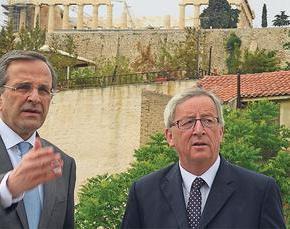 Γιουνκέρ: Ο κ. Σαμαράς κάνει θαυμάσια δουλειά, έφερε αξιοπιστία στην Ελλάδα.«ΚΑΝΕΙΣ ΔΕΝ ΠΕΡΙΜΕΝΕ ΟΤΙ Η ΧΩΡΑ ΘΑ ΕΧΕΙ ΠΡΩΤΟΓΕΝΕΣΠΛΕΟΝΑΣΜΑ»