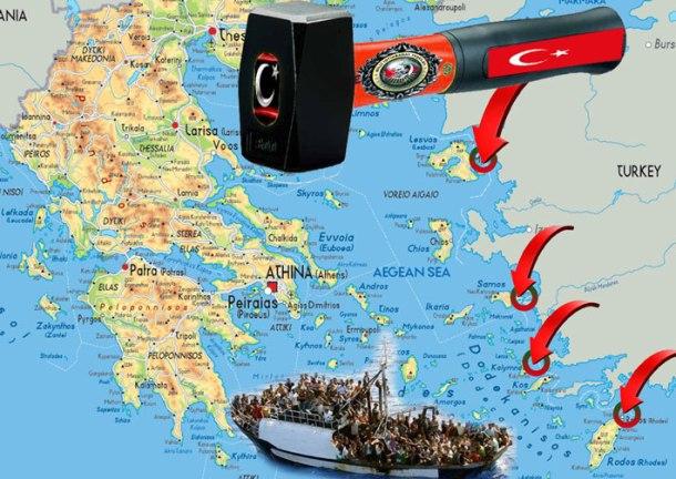 Αποτέλεσμα εικόνας για η τουρκία απειλεί τα νησιά του Αιγαίου