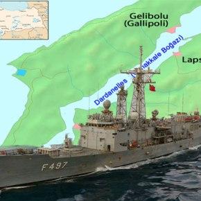 Στα όρια του Πεδίου Βολής «Καράβια» ανατολικά της Πελοποννήσου έφτασε η τουρκική φρεγάτα F497TCG-Gelibolu