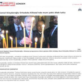 Σε ελληνορθόδοξη εκκλησία ο πρόεδρος της τουρκικήςαντιπολίτευσης
