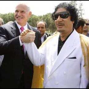 Oταν ο ΓΑΠ επισκέφτηκε τον Καντάφι στη σκηνή του και του ζήτησε αυτόγραφο(εικόνες)