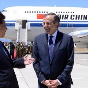 Ιδιωτική επίσκεψη με σημασία του Κινέζου Προέδρου στην Ελλάδα.Τον υποδέχτηκε στη Ρόδο ο ΑντώνηςΣαμαράς.