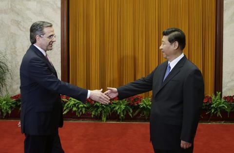 Greek PM in China