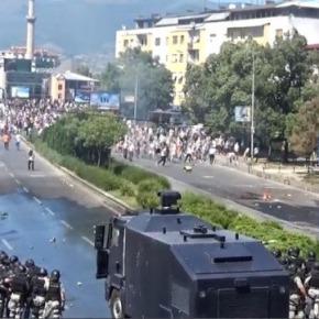 """Βίντεο-Φωτορεπορτάζ:Αλβανοί στους δρόμους των Σκοπίων φωνάζοντας """"Αλλάχ Ακμπάρ""""-Άγριες συμπλοκές με τηναστυνομία!"""