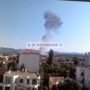 Η στιγμή της πτώσης του Α7 Corsair στηνΚομοτηνή