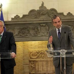 Γιούνκερ: Η Ελλάδα θα είχε γίνει Αργεντινή αν δεν ήταν στην ομπρέλα της ευρωζώνης Σαμαράς: Δεν ξεχνάμε ότι ο Γιούνκερ μας στήριξε – Στο τραπέζι το χαρτοφυλάκιο τουΔ.Αβραμόπουλου