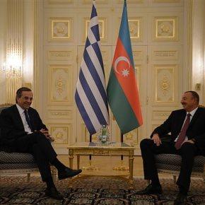 Σαμαράς – Αλίγιεφ στο Μπακού: Ο έλληνας πρωθυπουργός ζήτησε, αν χρειαστεί, περισσότερο φυσικό αέριο Εξετάζεται το ενδεχόμενο σε περίπτωση διακοπής της τροφοδοσίας λόγω της ουκρανικήςκρίσης