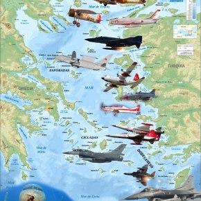 Σκέπασαν τον Ουρανό τα Τούρκικα …17 μαχητικά,CN-235 & Ε/Π σε 43Παραβιάσεις!
