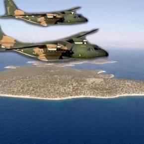 EKTAKTO: Τουρκικό CN-235 πέταξε ανενόχλητο 180 μέτρα πάνω από τοΦαρμακονήσι